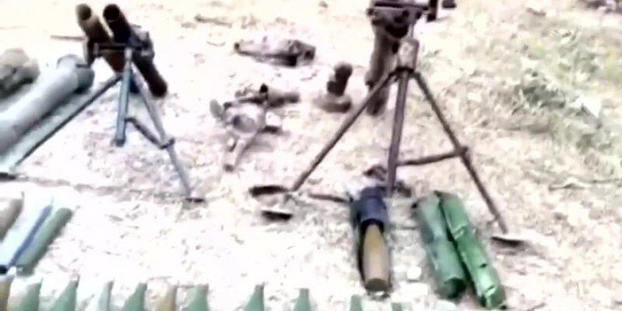 İşte PKK'nın mağarasında ele geçen silahlar