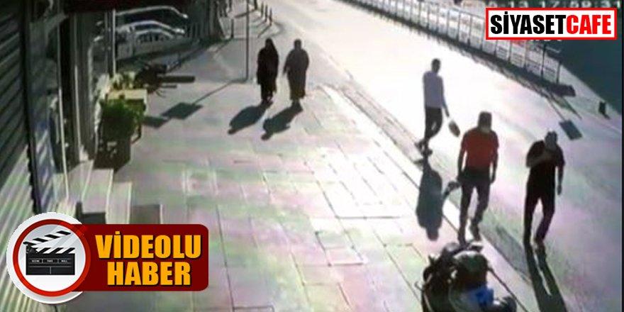 Bayram günü 4 kişilik aileye dehşeti yaşatan kaza kamerada
