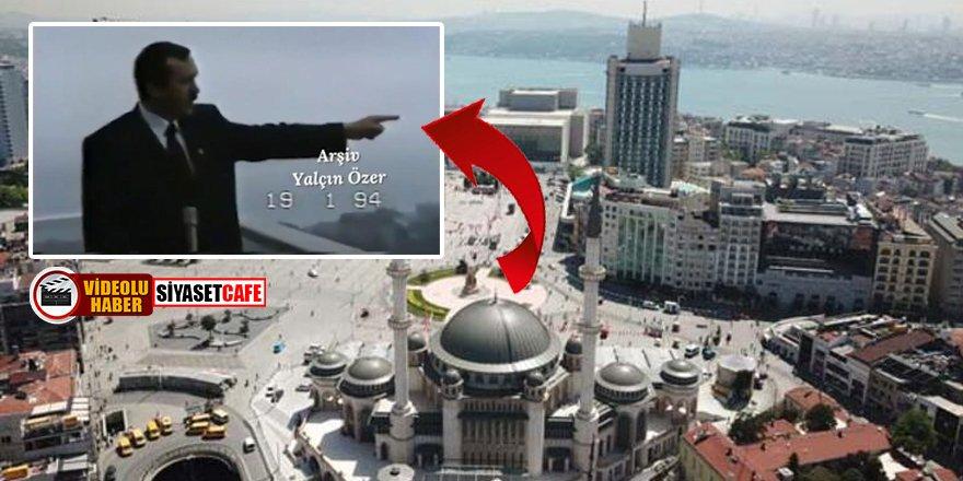 Erdoğan, Taksim Camii projesini 27 yıl önce böyle anlatmıştı!