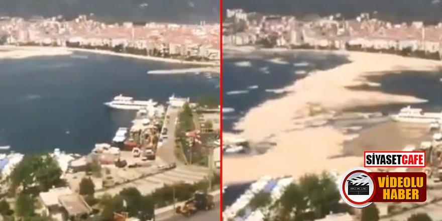 İşte Deniz salyasının Marmara'yı kaplama anı!