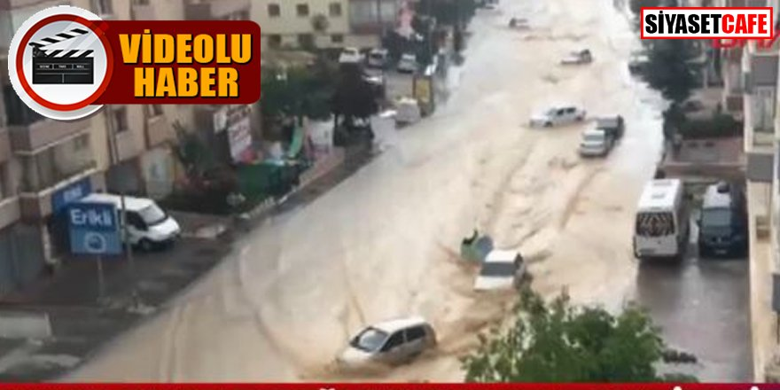 Başkent'te sel faciası: Araçlar sürüklendi