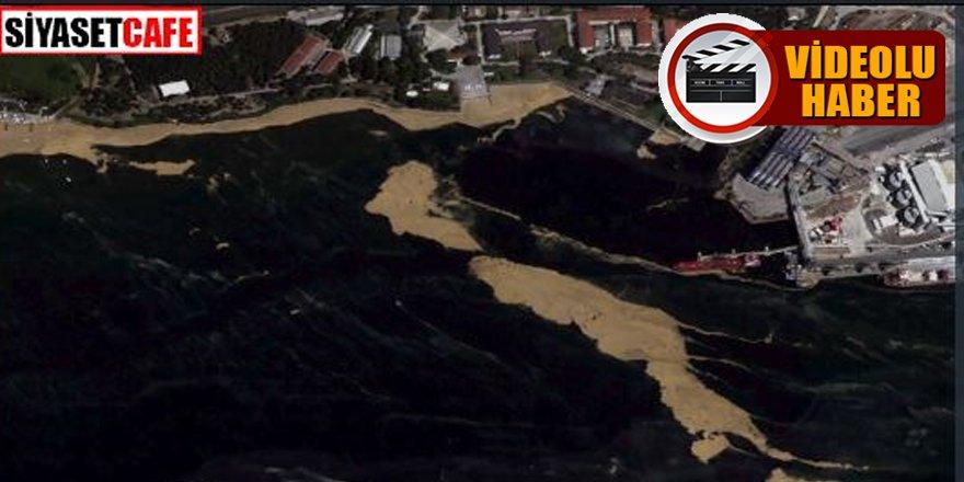 Marmara'daki deniz salyası uzaydan görüntülendi