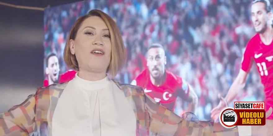 Azerbaycanlı sanatçı Azerin'den A Milli Futbol Takımına büyük destek!