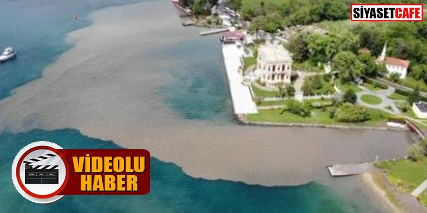Havadan görüntülendi: İstanbul Boğazı çamura bulandı