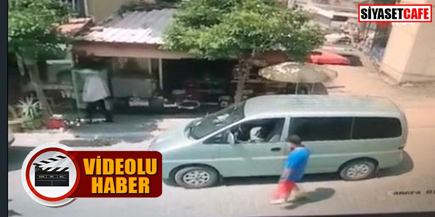 Kameralara yakalandı: Saniyeler içinde hırsızlık