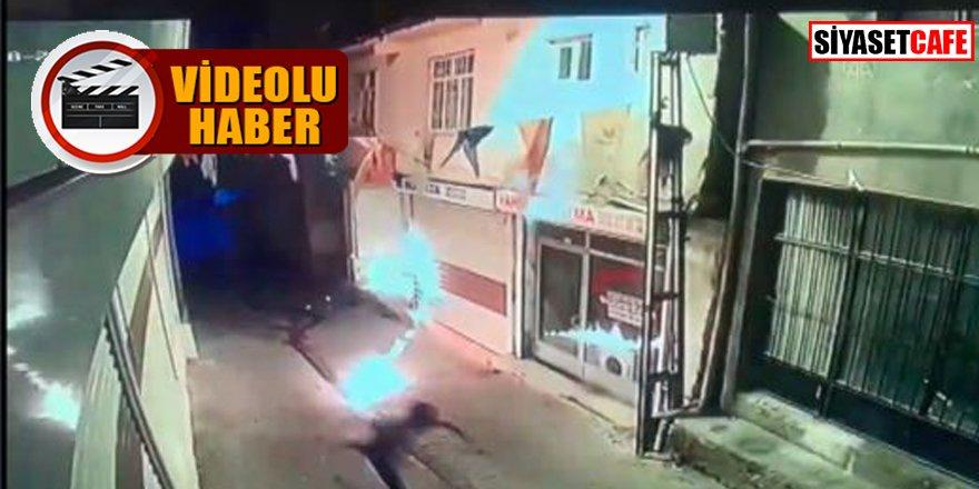 AK Parti Hani İlçe Başkanlığına molotoflu saldırı