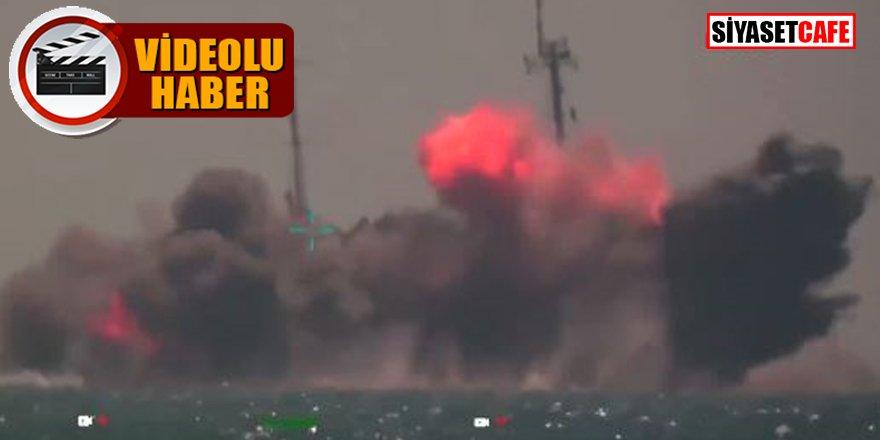 İşte Atmaca'nın vurduğu geminin görüntüsü