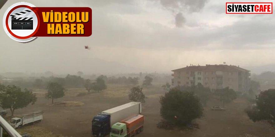 İşte o anlar: İzmir'de fırtına