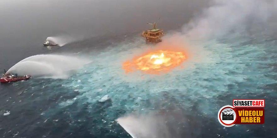 Dünya bu görüntüyü konuşuyor: Okyanusun ortasında yangın çıktı!