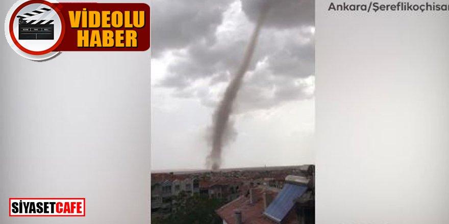 Ankara'daki hortum kameralara böyle yakalandı