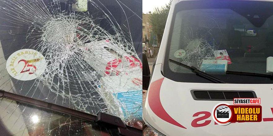 Batman'da Suriyeliler ambulansa saldırıp, sağlık çalışanlarını yaraladı!
