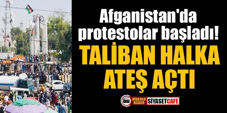 Afganistan'da protestolar başladı! Taliban halka ateş açtı