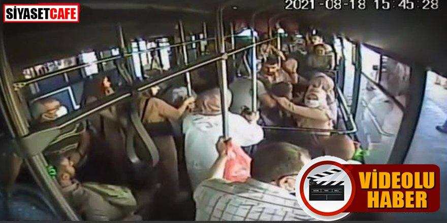 Dili boğazına kaçan çocuğa otobüs şoförü yetişti