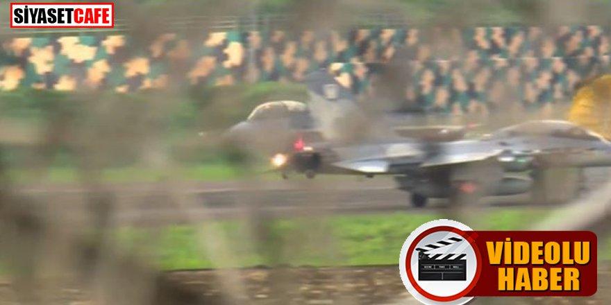 İşte o anlar: F-16 pistten çıktı