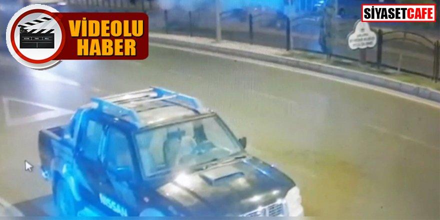 Jandarma astsubayın hayatını kaybettiği kaza kamerada