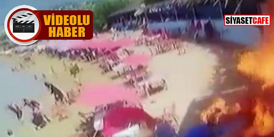 Plajda korkunç patlama: 7 yaralı