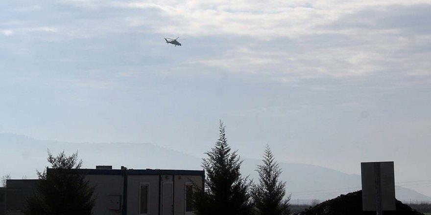 İşte Afrin'de düşen helikopterin görüntüleri