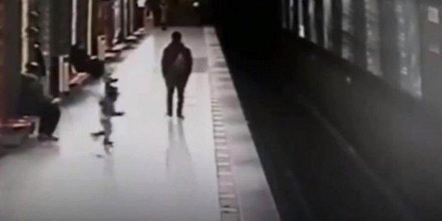 Koşarak tren yoluna atlayan çocuk mucize şekilde kurtuldu