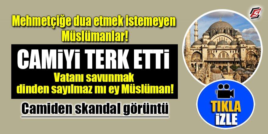 Cami cemaati Mehmetçiğe dua etmedi